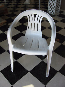 White Patio Chairs with Arms