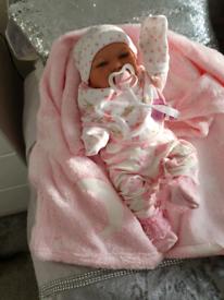 All Vynil Reborn Baby Girl Doll .