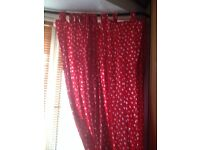 Pretty heart curtains