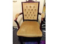 Antique Carved Arm Chair in E7