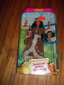 Americian Indian Barbie with book & baby