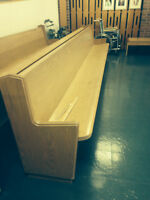 Solid Oak Church Pew