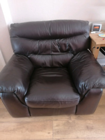 Leather Set sofa and chair