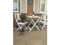 GARDEN PATIO TABLE AND CHAIRS FOLDABLE