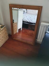 Pine wood mirror