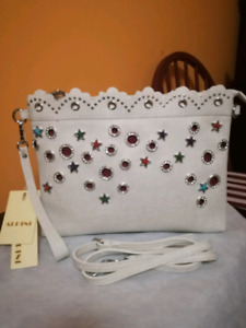 Alpini, Italian party clutch with wristlet and strap