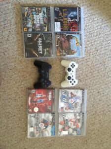 PS3+2Controllers+8Games Bundle