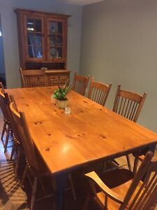 Dining Table with eight chairs Peterborough Peterborough Area image 1