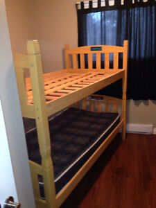 Single over single bunk bed
