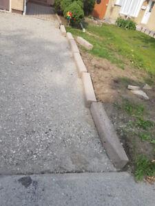 Driveway Curb