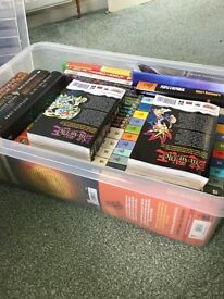 2 boxes filled with teen fiction books. (Full list of books in description)