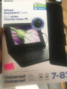 Hipstreet wired keyboard with case for tablets