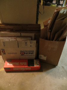 MOVING BOXES  (40) , PAPER, AND ROLE OF TAPE