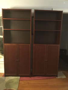 Red Mahogany Bookcases / AMAZING PRICE / Real Bargain