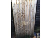 Wooden side gate 3ft X 6ft ledged and braced
