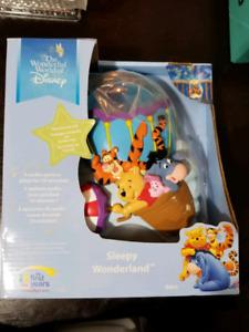 Winnie the pooh projector crib music nursery Light