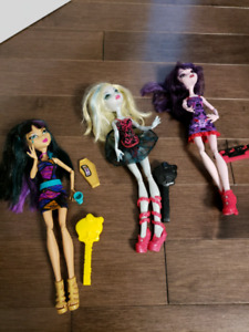 Monster High Dolls - Set of 3 dolls