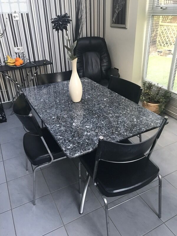 Granite Table And Four Chairs In Preston Lancashire Gumtree