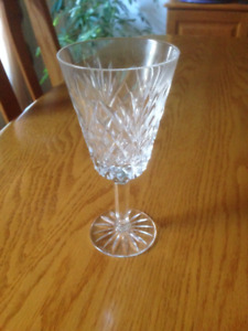 Tyrone crystal white wine glasses