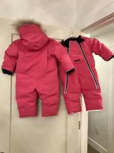 Canada Goose Girls Snow Suit LIKE NEW 12-18 months PINK
