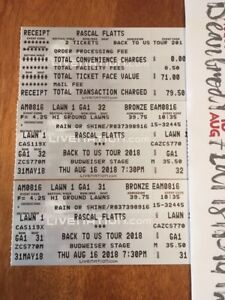 Rascal Flatts August 16th Lawn country mega ticket