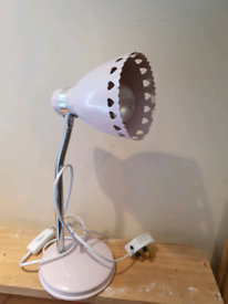 Pink hearts flexible reading lamp