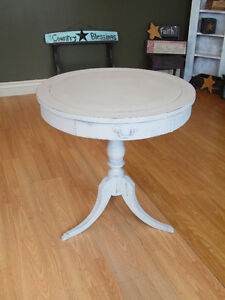 ANTIQUE DRUM TABLE REFINISHED