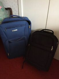 Two travel cases on wheels