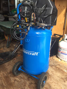 LARGE AIR COMPRESSOR AND AIR TOOLS