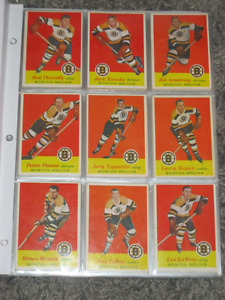 RARE!  ORIG. 1957-58 TOPPS COMPLETE SET OF 66 HOCKEYCARDS! NICE!