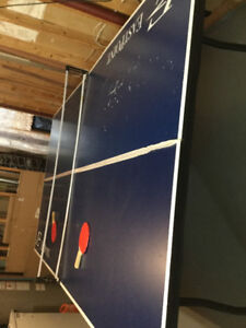Table Tennis Table with Net and Two Bats