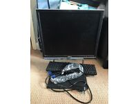 Dell monitor & keyboard