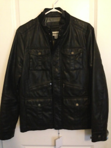 Men 100% Authentic New Calvin Klein Leather Jacket