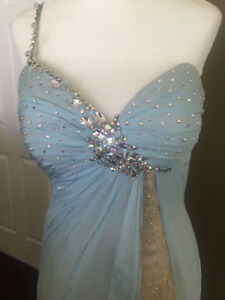 Sherri hill pageant dress prom chiffon $2,700 REG! S 2-4 jovani