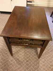 vintage side table by Heirloom