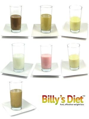 42 VLCD MEAL REPLACEMENT BILLY'S DIET SHAKES, LOW CARB, KETOSIS,SLIM,WEIGHT LOSS