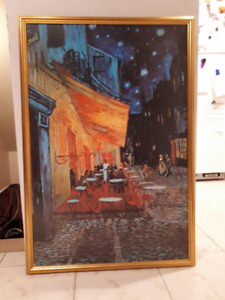 Van Gogh painting (reproduction) - Toile de Van Gogh (copie)