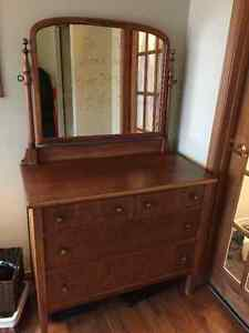 Dresser with Mirror recently refinished