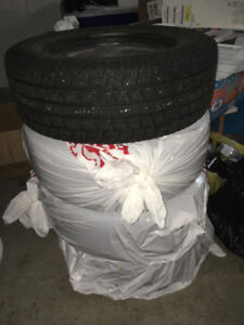 winter tires 225/60 R16 on 5x114.3mm steel rims