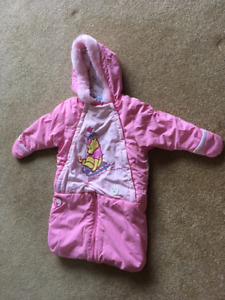 PINK DISNEY BUNTING SNOW SUIT