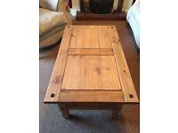 Corona Mexican pine coffee table