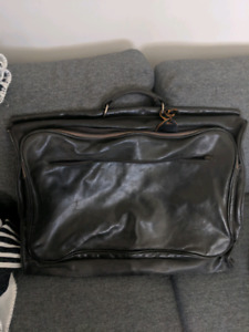 Old leather suit travel case