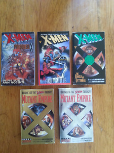 X-MEN lot of 5 novels