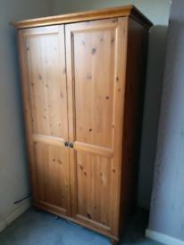 """Solid Pine IKEA """"LEKSVIG"""" Wardrobe REDUCED!"""