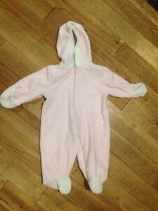 Pink fleece suit size 3-6 months