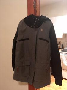 Manteau Orage Noir et Gris Taille L