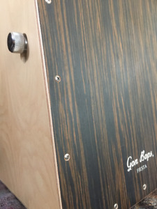 Cajon Drum with Real Snare and Great Bass includes carry case