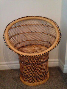 Small Wicker/Rattan Chair - Great for Kids and otherwise Kitchener / Waterloo Kitchener Area image 1