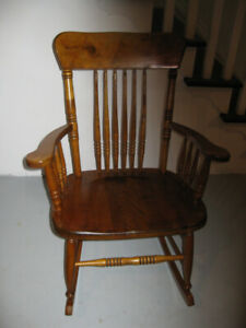 SOLID MAPLE ROCKING CHAIR, great for rocking baby
