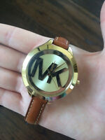 MICHAEL KORS WOMENS LEATHER WATCH